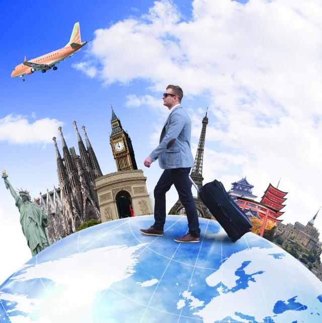 旅行する人