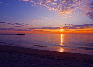 湯野浜海岸夕陽